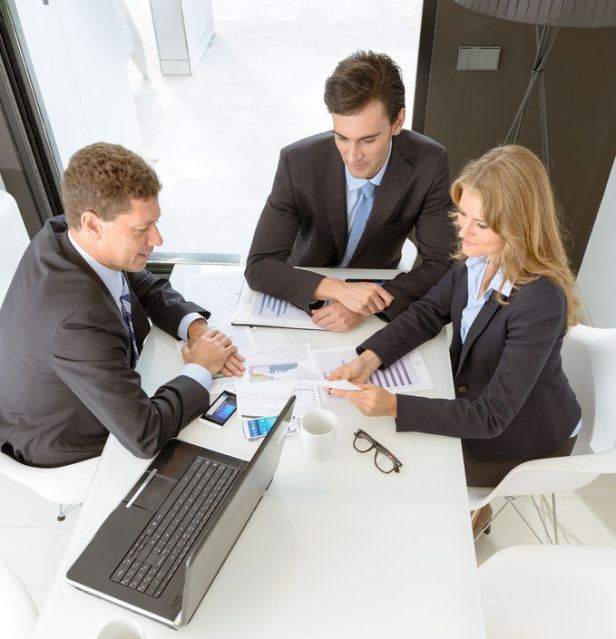 33801794 - three business people on a meeting