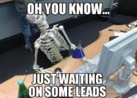 skeleton just waiting
