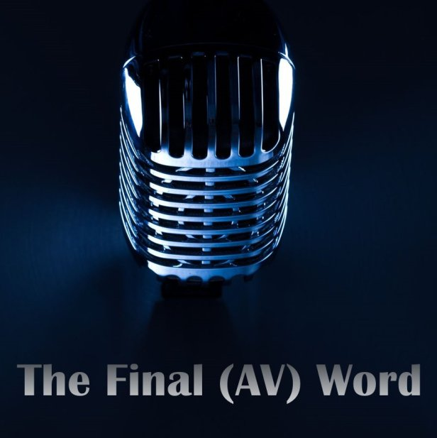 the final av word logo