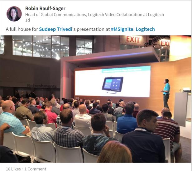 Logitech Robin LinkedIn MS Ignite post.png