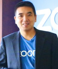 Eric Yuan and Zoom shirt