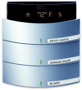 Control4 - KNX Lighting - CONTROL ELEMENT, W ROOM THERMOSTAT 3.6-FOLD SWITCH SENSOR FM ALUMINUM SILVER