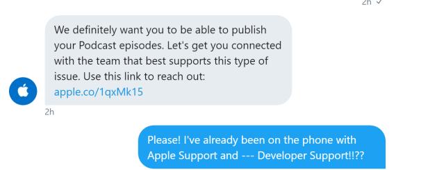 Apple developer tweet