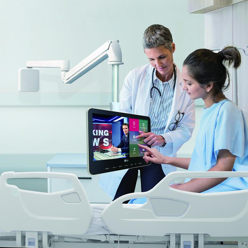 LG Unveils Smart Touch-Screen Patient TV – Convergent